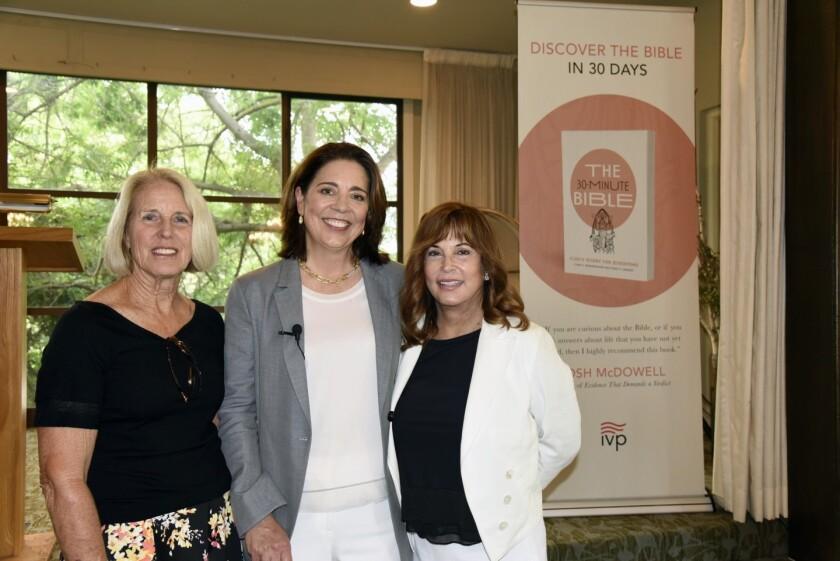 Kathy Stumm, The 30-Minute Bible co-author Paige Vanosky, Joani Wafer