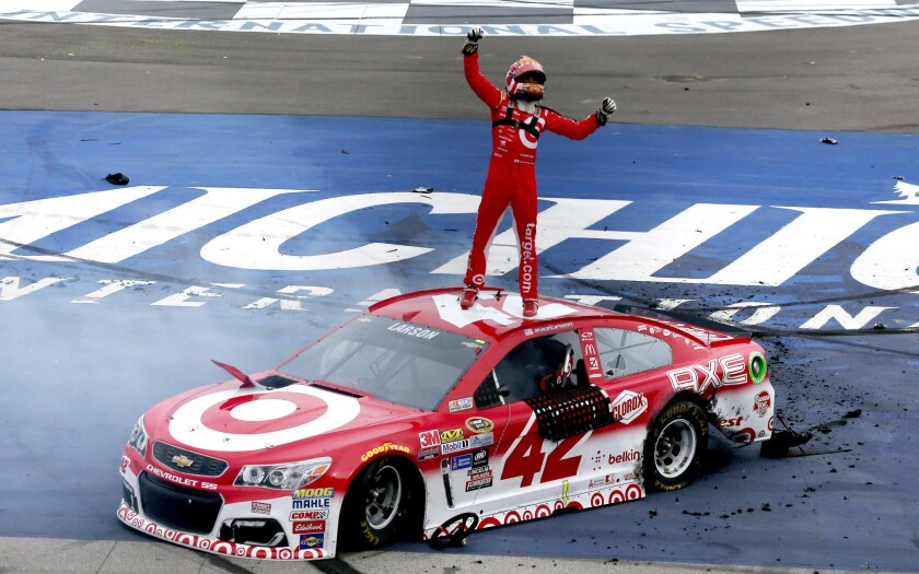Kyle Larson collects first Sprint Cup win