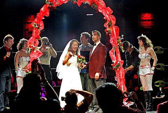 Lucha VaVoom wedding