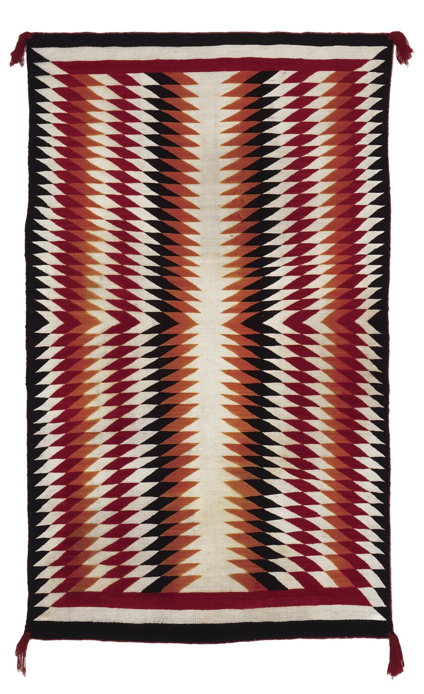 Navajo rug by Betty Jo Peterson.