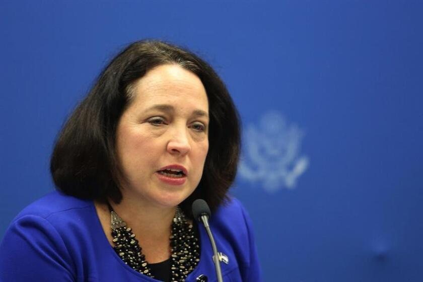 La embajadora de Estados Unidos en El Salvador, Jean Manes. EFE/ARCHIVO
