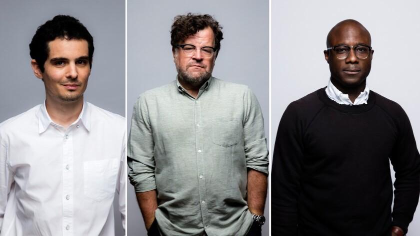 From left: Damien Chazelle, Kenneth Lonergan, Barry Jenkins