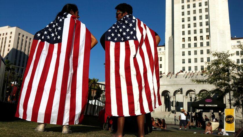 LOS ANGELES, CA. -- SATURDAY, JULY 4, 2015 -- Hijab Gulwani, 18, of Los Angeles, and Zain Delawalla,