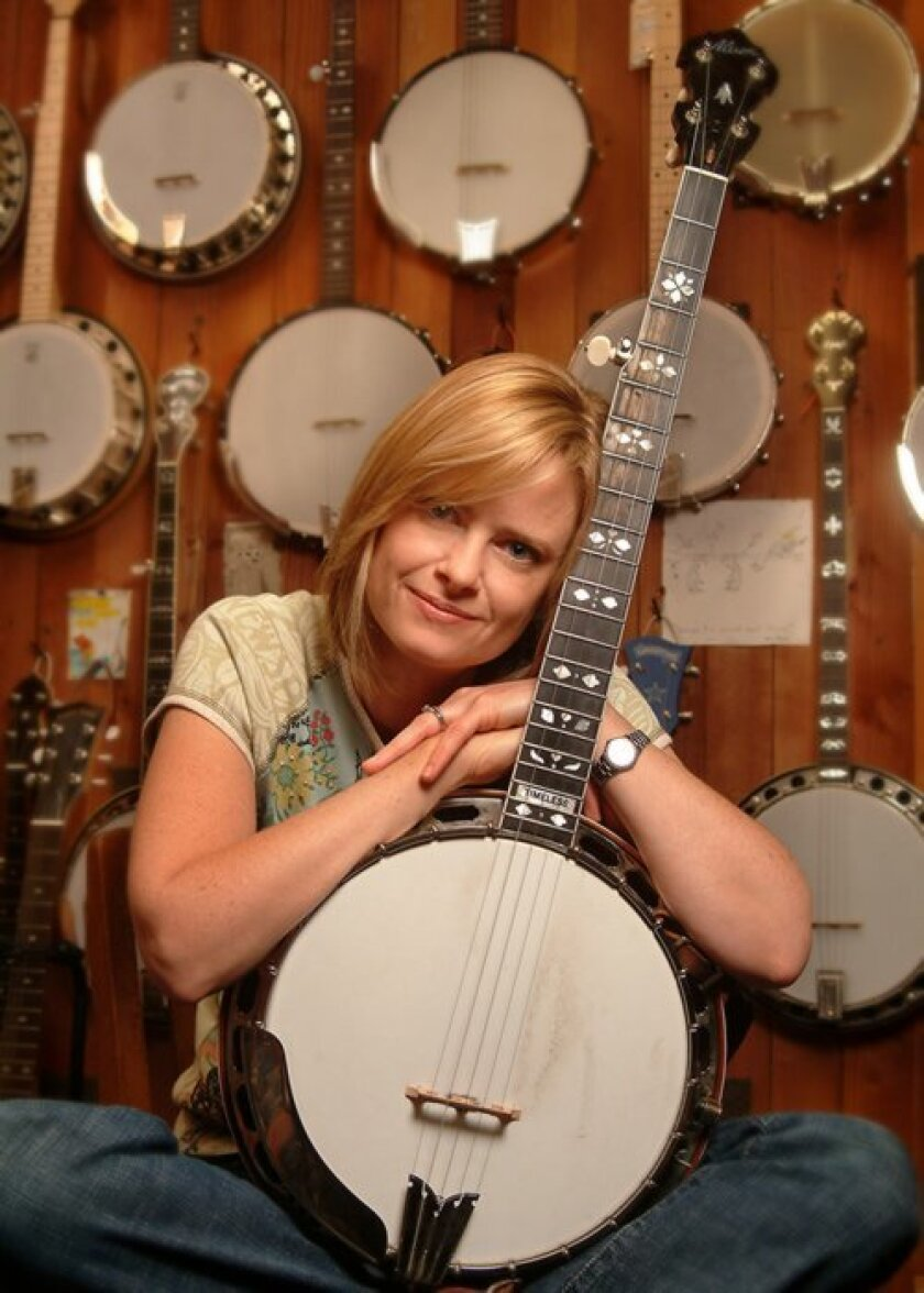 Banjoist and La Jolla High School graduate Alison Brown will perform at the Athenaeum May 2 in a benefit concert for the Rotary Club of La Jolla. Courtesy