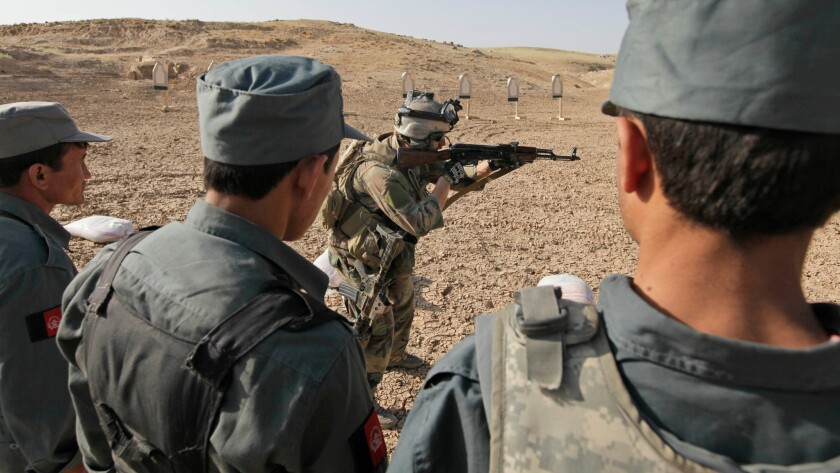 Training afghan police