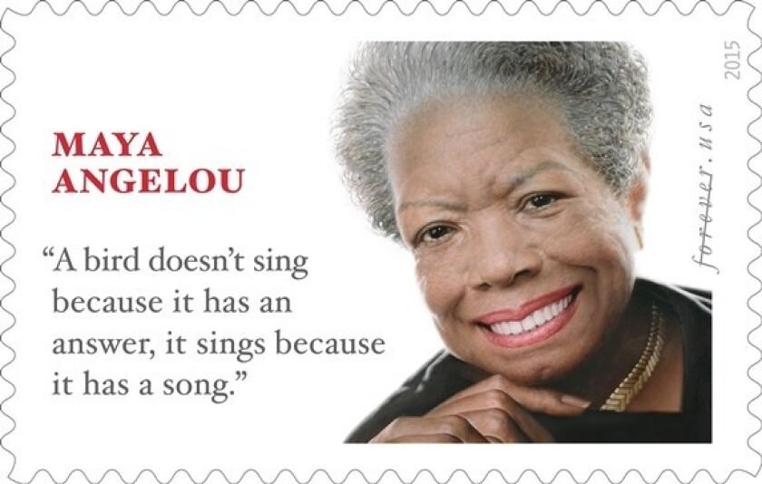 The Maya Angelou stamp.