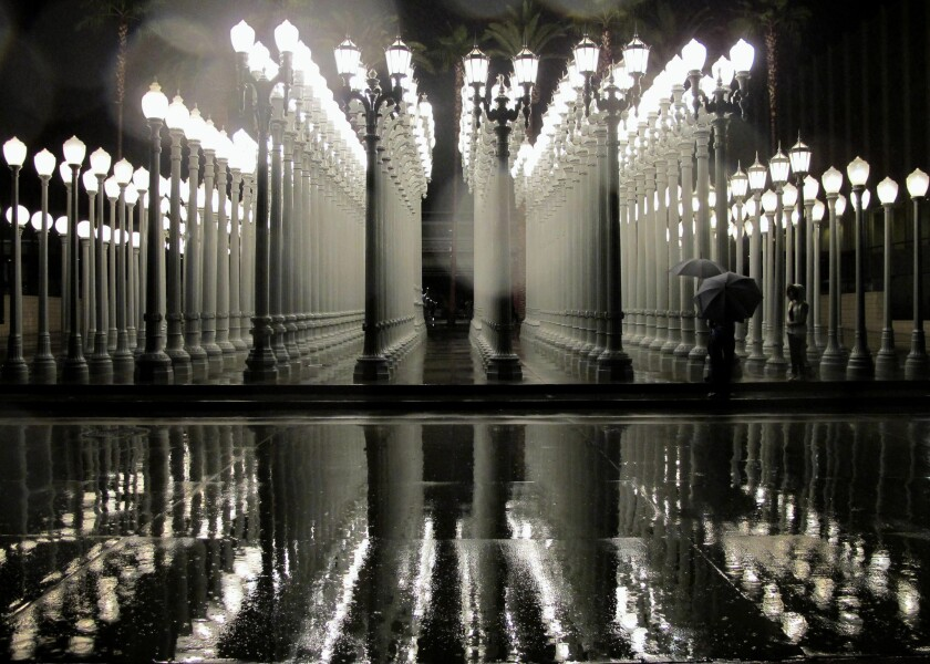 'Urban Light' installation at the Los Angeles County Museum of Art