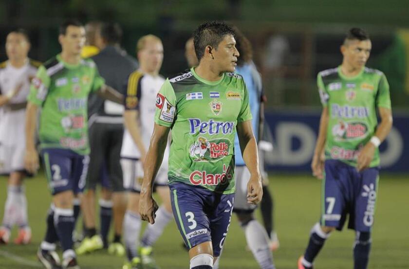 En la imagen, los jugadores del Santa Tecla del El Salvador. EFE/archivo
