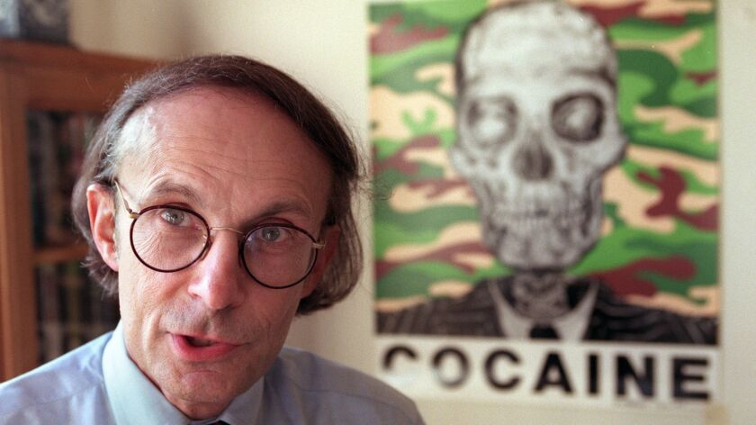 Ronald K. Siegel in his office at UCLA in 1996.