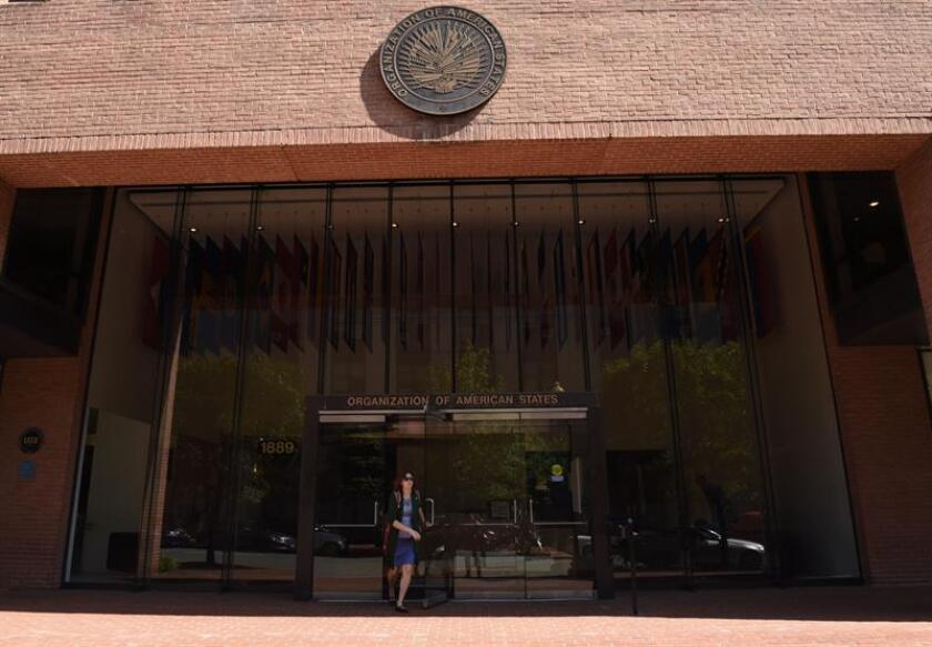 Fachada de la sede de la Organización de Estados Americanos (OEA) en Washington DC. (EE.UU.). EFE/Archivo