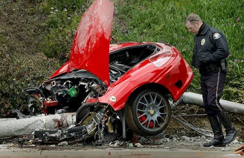 Crash Of Speeding Ferrari Kills Mixed Martial Arts Figure Charles Lewis Los Angeles Times
