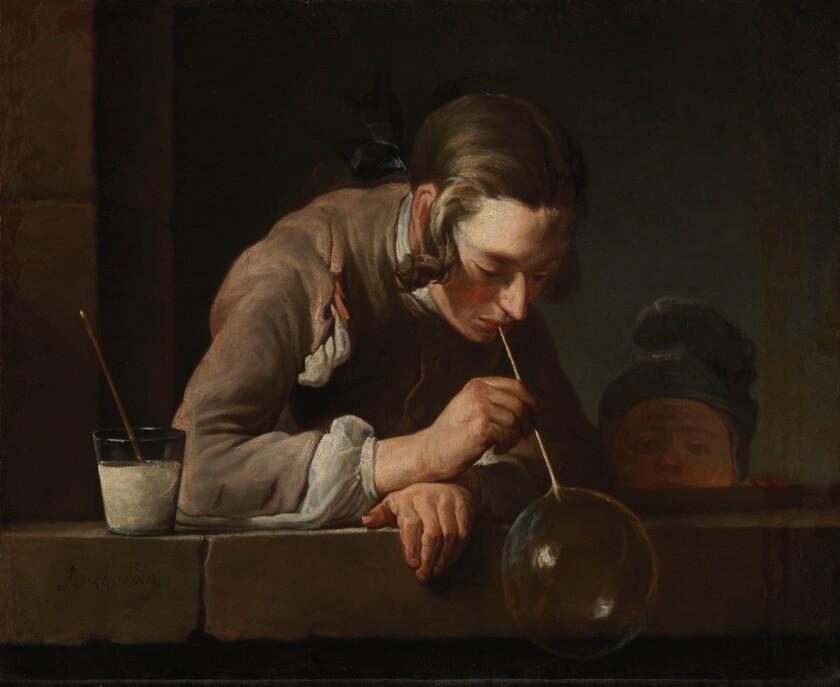 "Jean-Baptiste-Siméon Chardin, ""Soap Bubbles,"" after 1739, oil on canvas"