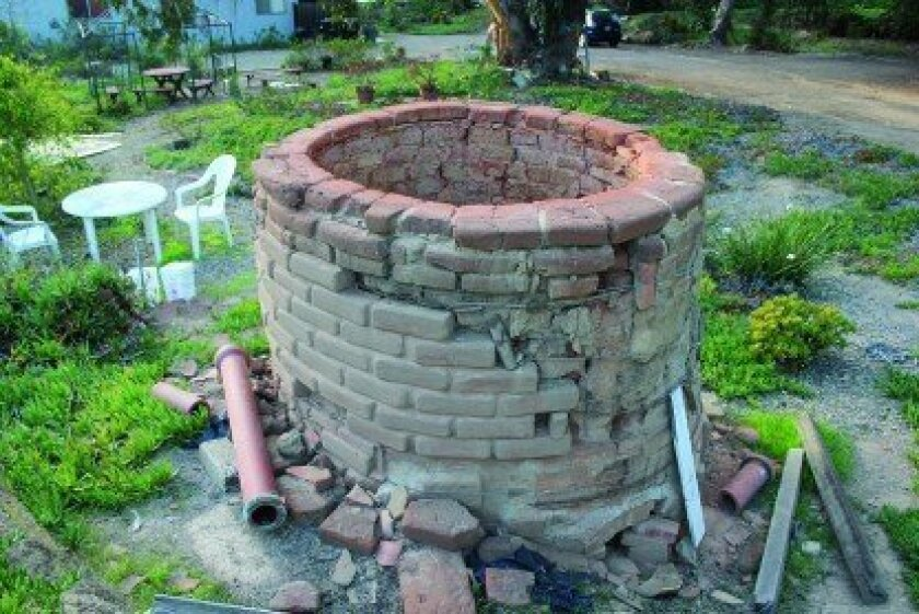 This kiln once belonged to the now defunct La Jolla Canyon Clay Products Company off Torrey Pines Road (1930s-1950s). The owner of the land where it remains contacted La Jolla Light earlier this year seeking a home for the artifact so he can develop the portion of his property where the kiln is located, which the city designated as historic in 1976. Some have suggested the city move the kiln to designated parkland just northeast at Pottery Canyon Natural Park.