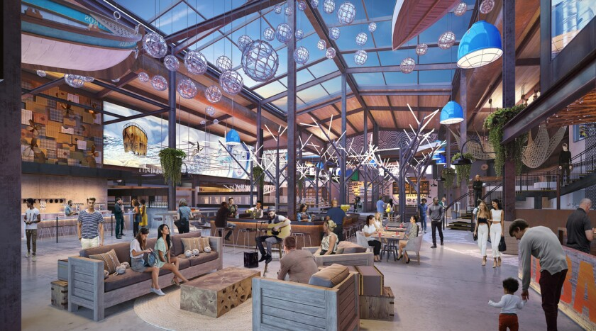 A rendering of the Sky Deck at Del Mar Highlands Town Center.