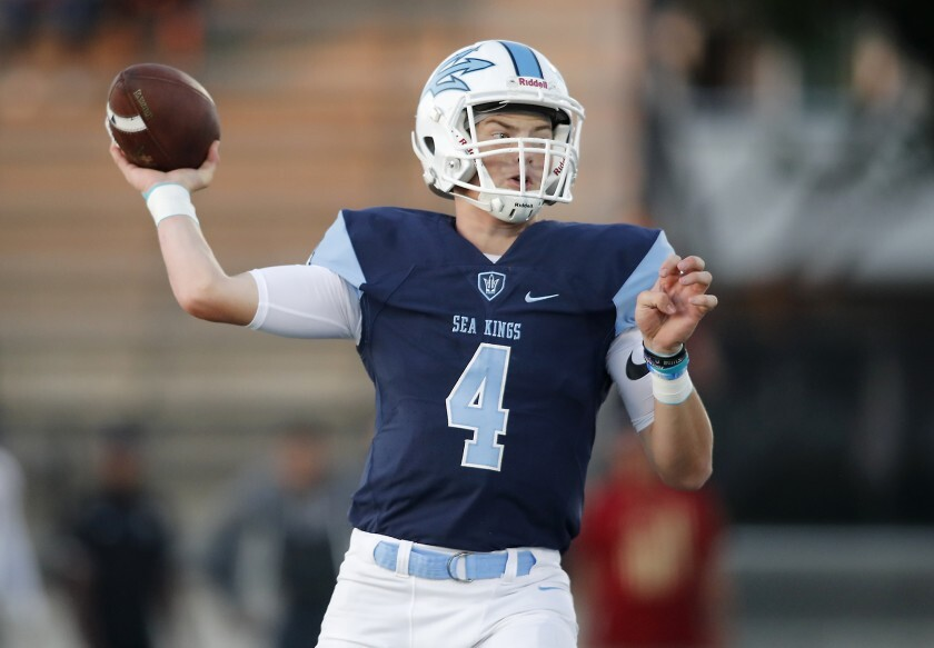 Corona del Mar High quarterback Ethan Garbers will lead his unbeaten team against crosstown rival Newport Harbor on Friday night.