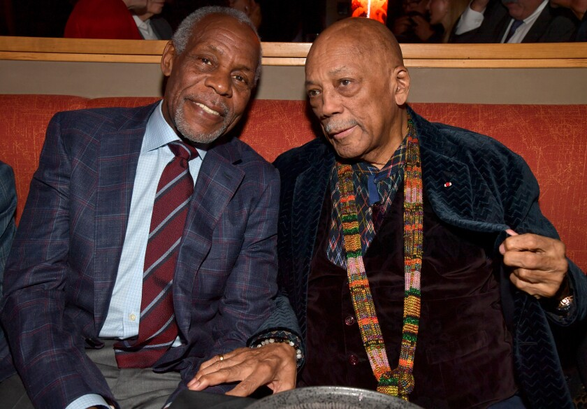 Danny Glover and Quincy Jones