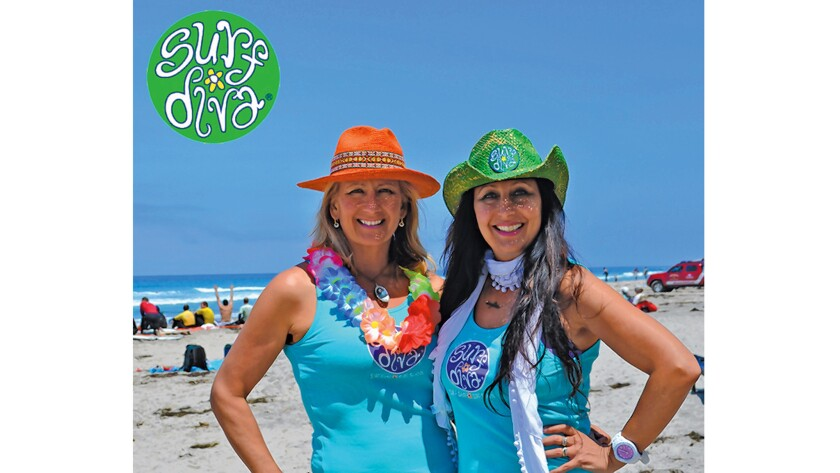 Surf Diva owners Izzy and Coco Tihanyi in La Jolla Shores