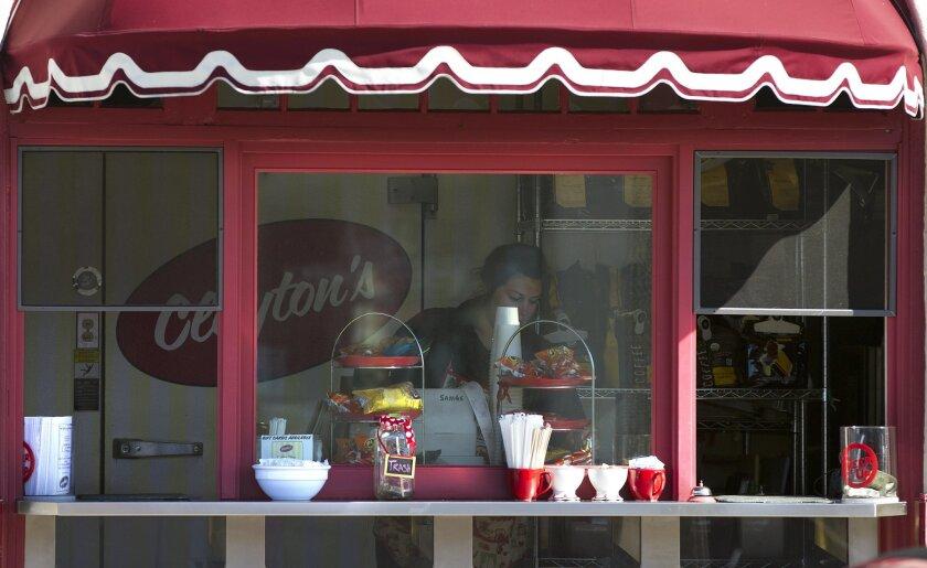 Clayton's Coffee Shop in Coronado.