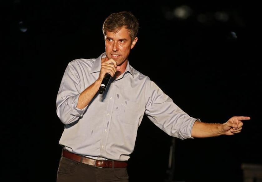 Candidate for the US Senate Beto O'Rourke talks to supporters at a Turn Out For Texas Rally with country music legend Willie Nelson in Austin, Texas, USA. EFE/EPA/Larry W. Smith/File
