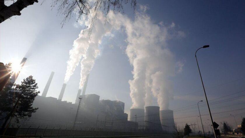 CO2 Emissons Report United Nations, Tuzla, Bosnia And Herzegovina - 12 Dec 2018