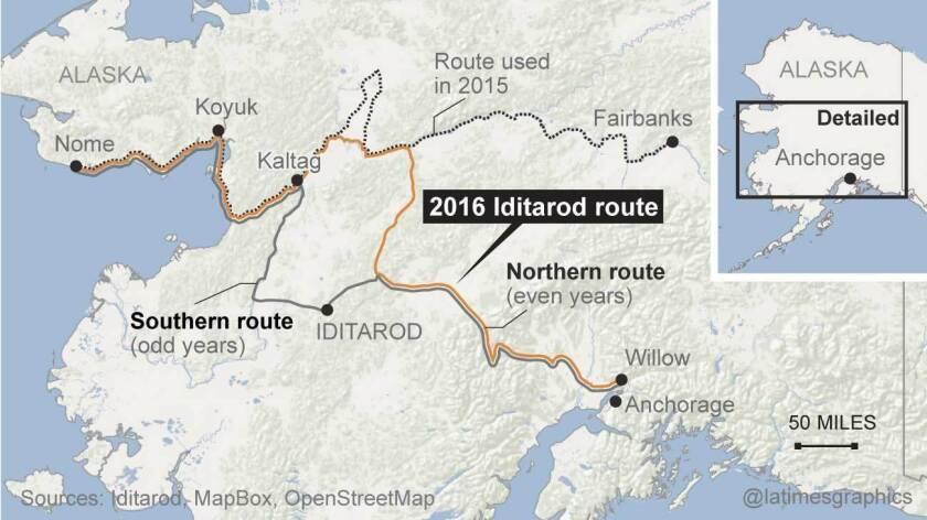 2016 IDITAROD sled race