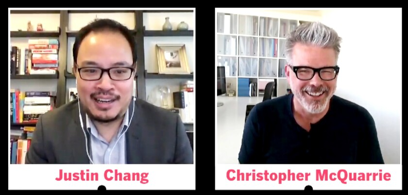 Los Angeles Times film critic Justin Chang and director-writer Christopher McQuarrie