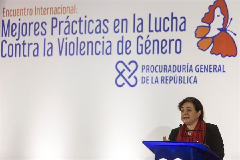 La secretaria de Seguridad Multidimensional de la Organización de los Estados Americanos (OEA), Claudia Paz, habla durante un encuentro con expertos locales y extranjeros para tratar el tema de la violencia contra la mujer en República Dominicana, el miércoles 22 de noviembre de 2017, en Santo Domingo. EFE/Archivo
