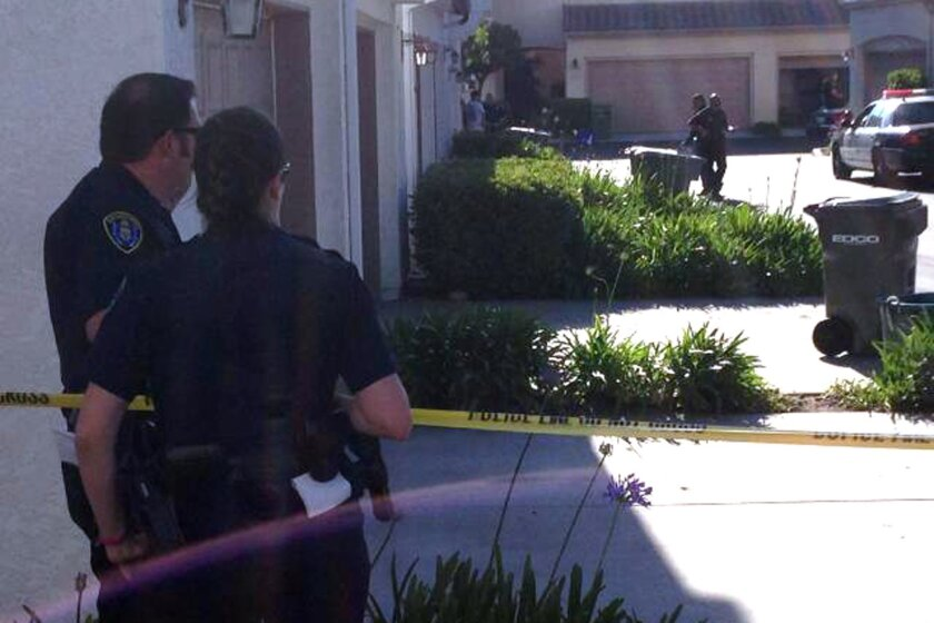 A 10-year-old boy was shot in the chest while playing with a gun with a neighbor girl at a Miramar Ranch condominium Tuesday afternoon