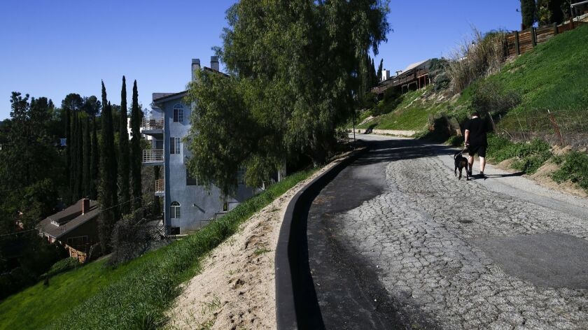 WOODLAND HILLS, CALIF. - MARCH 29: Bobbie Wasserman's house, down the hill and on the left side of S