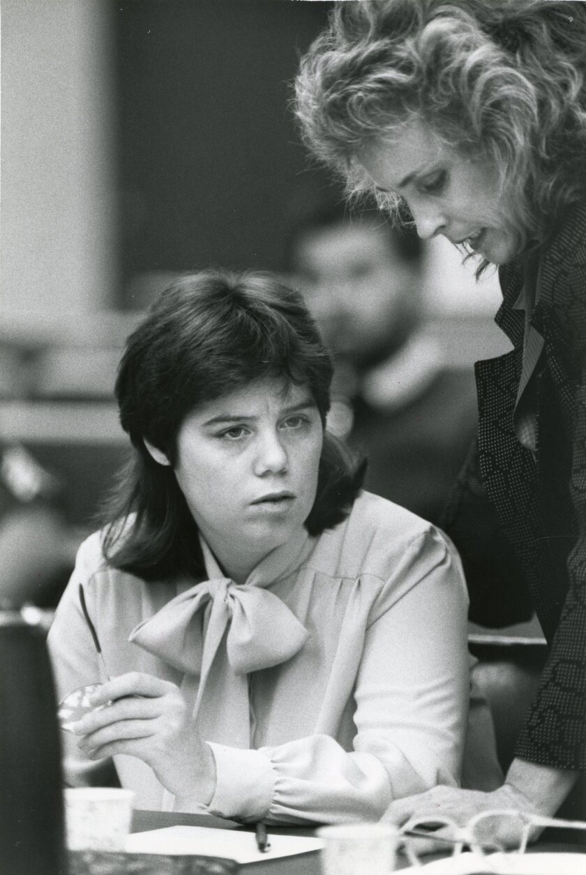 Luara Troiani at her sentencing in 1987.