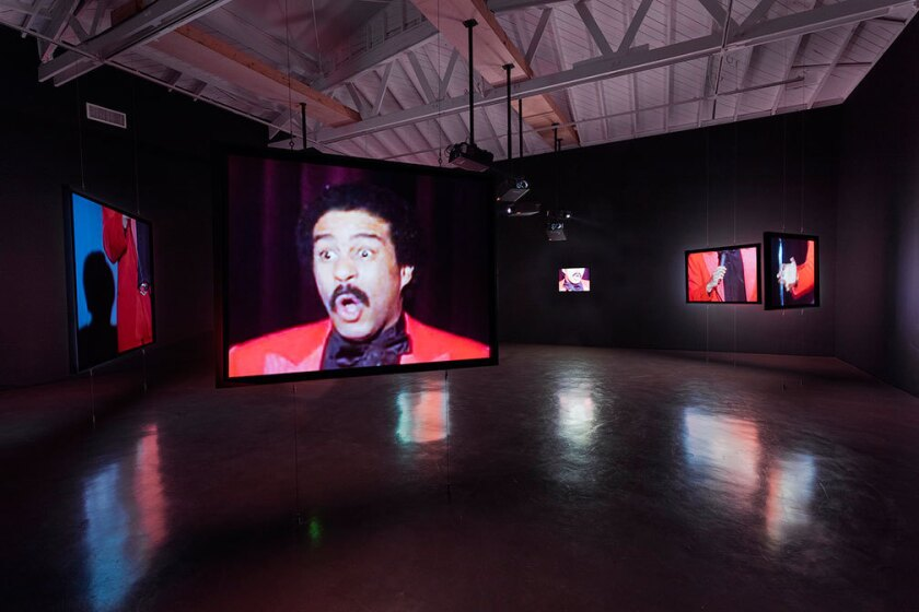 "A disjointed Richard Pryor is the subject of Glenn Ligon's ""Live"" installation at Regen Projects in Los Angeles."