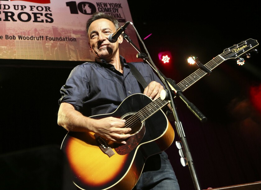 "Bruce Springsteen, shown performing at the ""Stand Up for Heroes"" event at Madison Square Garden in New York, stars in a short film, ""Hunter of Invisible Game,"" a collaboration with director Thom Zimny that premiered Wednesday."