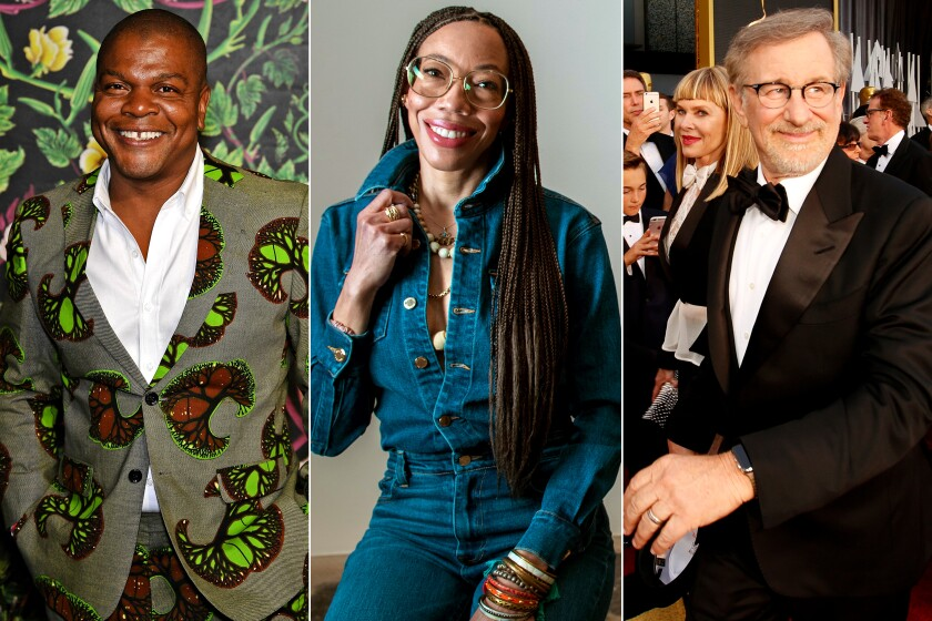 Kehinde Wiley, Amy Sherald and Steven Spielberg