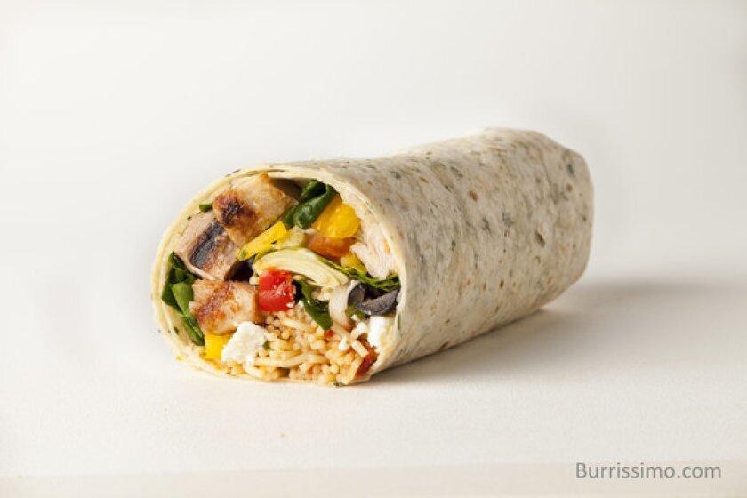 The Italian burrito from Burrissimo.