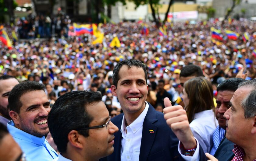 Venezuelan opposition leader Juan Guaido in March