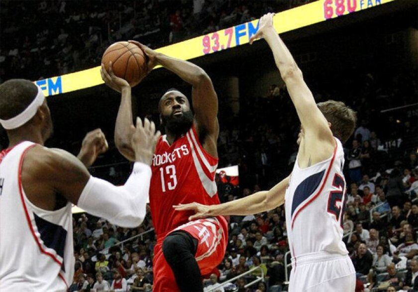 James Harden is averaging 35.3 points, 6.3 rebound and 6.3 assists per game to start the season.