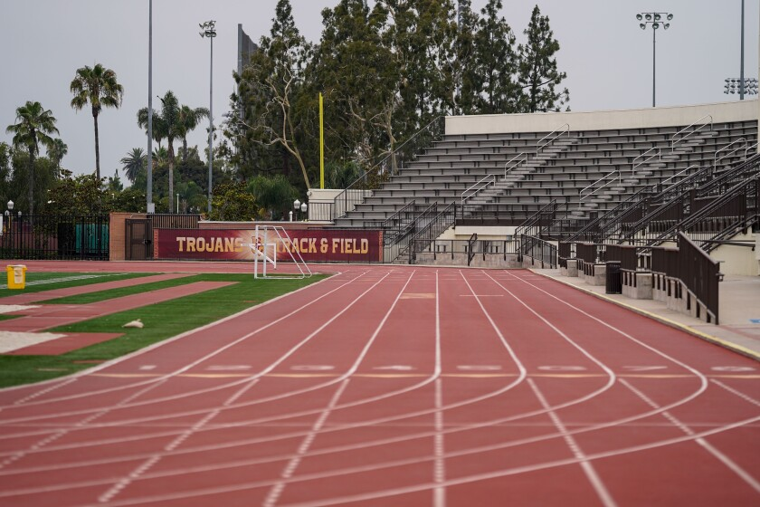 Dean Cromwell Track and Field at the Katherine B. Loker Stadium at USC