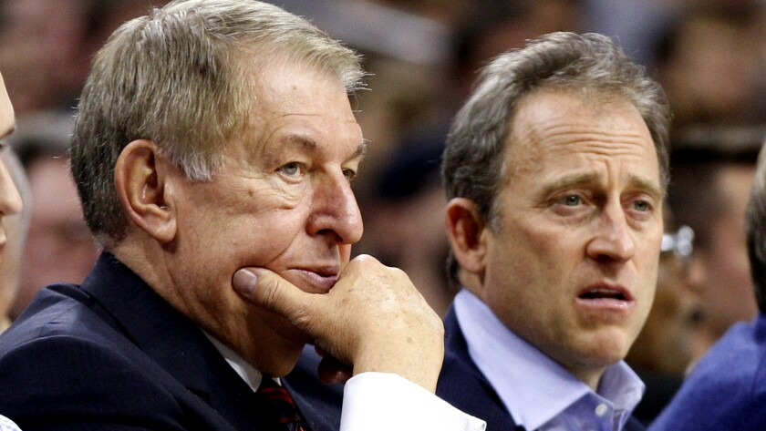 Jerry Colangelo, left, will keep a watchful eye on the struggling 76ers after he was brought on as an advisor by the club, including co-owner Josh Harris, right.