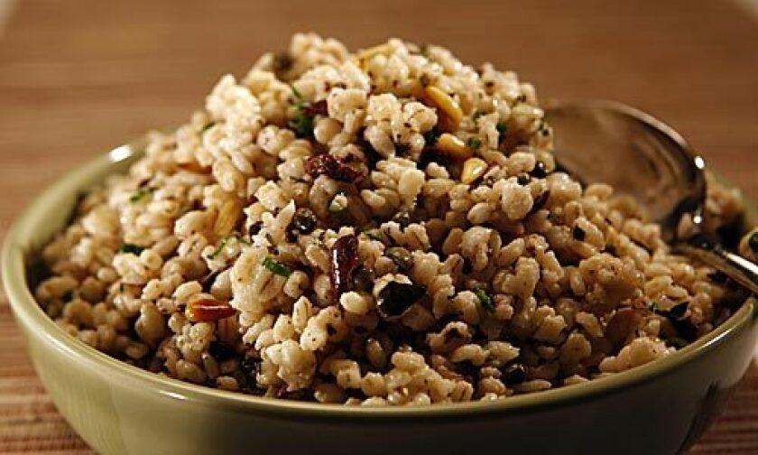 PUNGENT: Mediterranean barley salad includes capers.