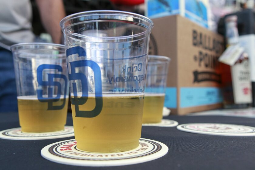 Ballast Point beer at Petco Park in April 2014.