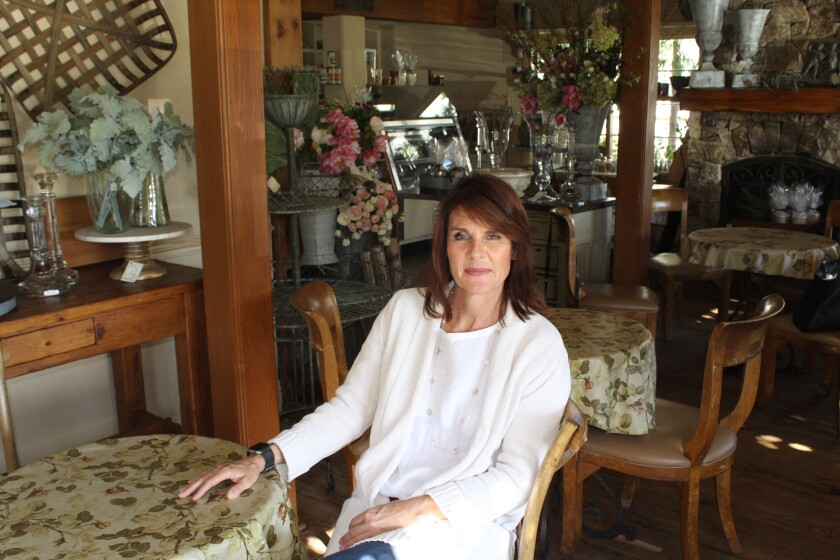 Keely Barerra, new owner of Thyme in the cottage-like cafe.