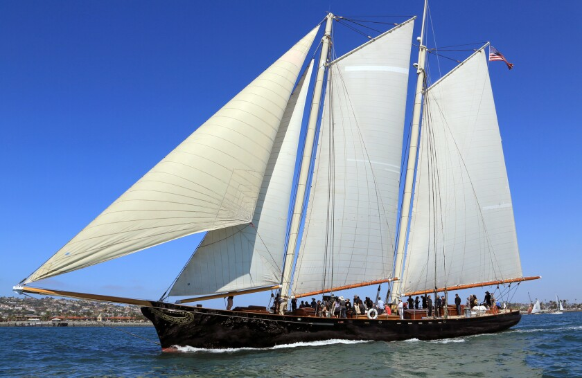 The schooner America sailed in the 2016 Historic Vessels Regatta in San Diego and may join this year