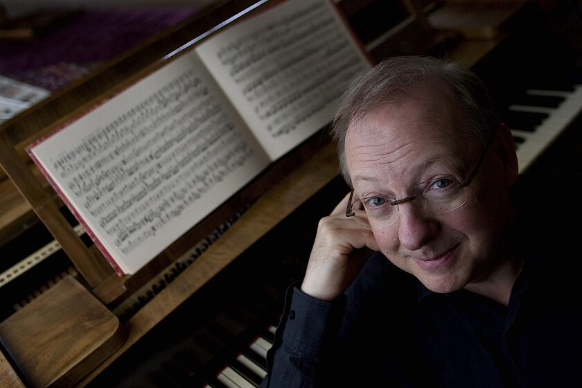 Conductor and harpsichordist Nicholas McGegan led the SummerFest chamber orchestra as it closed this year's SummerFest.