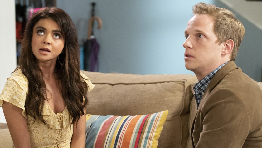"""Sarah Hyland and Chris Geere in """"Modern Family"""" on ABC.""""Modern Family"""" on ABC."""