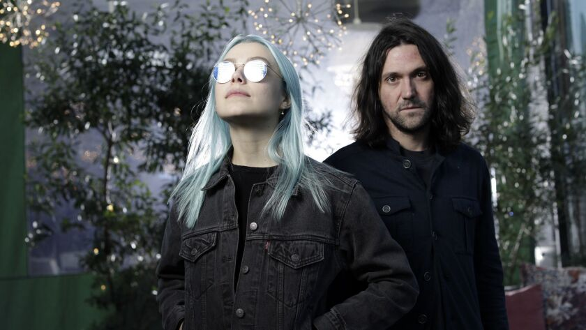 LOS ANGELES, CA -- DECEMBER 04, 2018: Phoebe Bridgers and Conor Oberst are releasing an album in ear