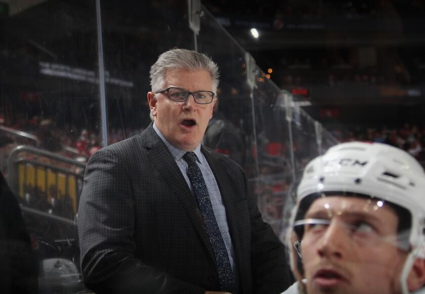 Ottawa Senators associate coach Marc Crawford handles bench duties during the second period of a game Feb. 21.