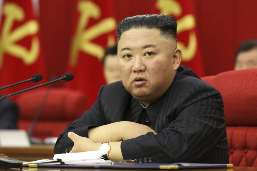 FILE - In this June 18, 2021, file photo provided by the North Korean government, North Korean leader Kim Jong Un speaks during a Workers' Party meeting in Pyongyang, North Korea. After saying for months that it kept the coronavirus completely at bay, North Korea on Wednesday, June 30, came closest to admitting that its anti-virus campaign has been less than perfect. Independent journalists were not given access to cover the event depicted in this image distributed by the North Korean government. The content of this image is as provided and cannot be independently verified. (Korean Central News Agency/Korea News Service via AP, File)