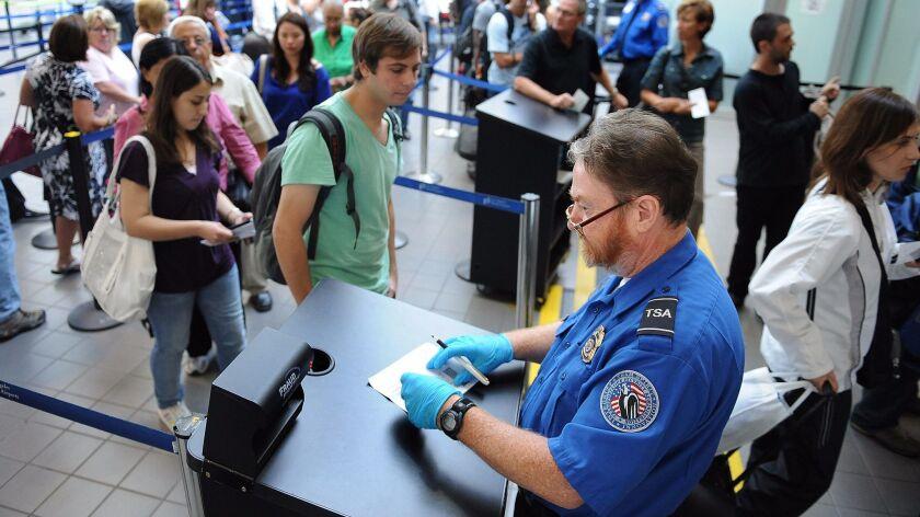 TSA at LAX Terminal 1