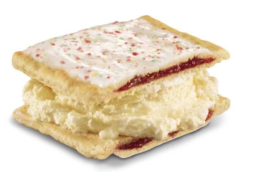 Carl's Jr. Pop-Tart ice cream sandwich.