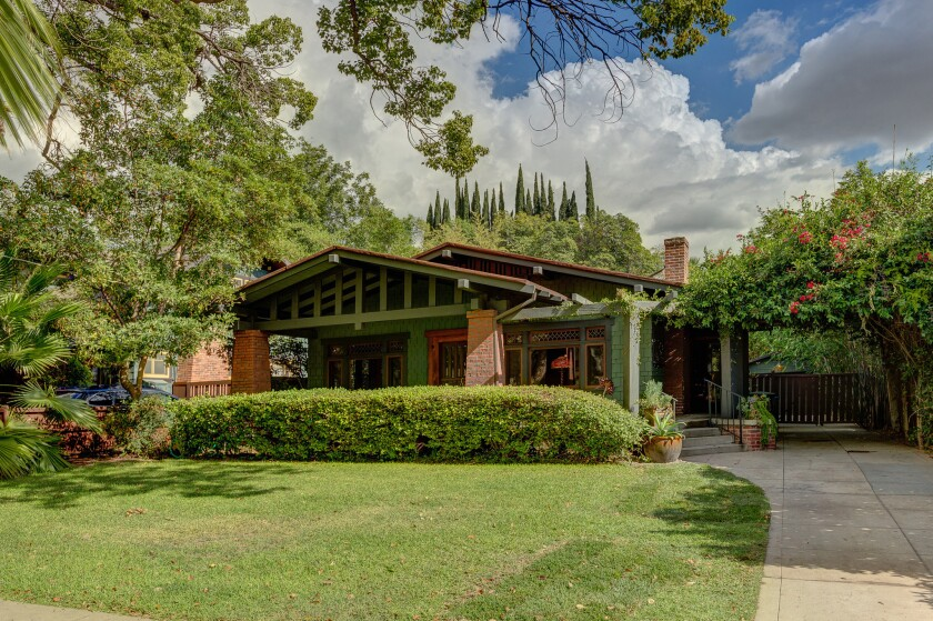 The 1908 Craftsman-style home at 116 N. Meridith Ave., Pasadena, is listed at $849,000.